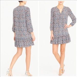 J Crew Factory Long Sleeve Relaxed Floral Dress